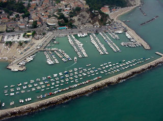 Aerial view Port of Numana